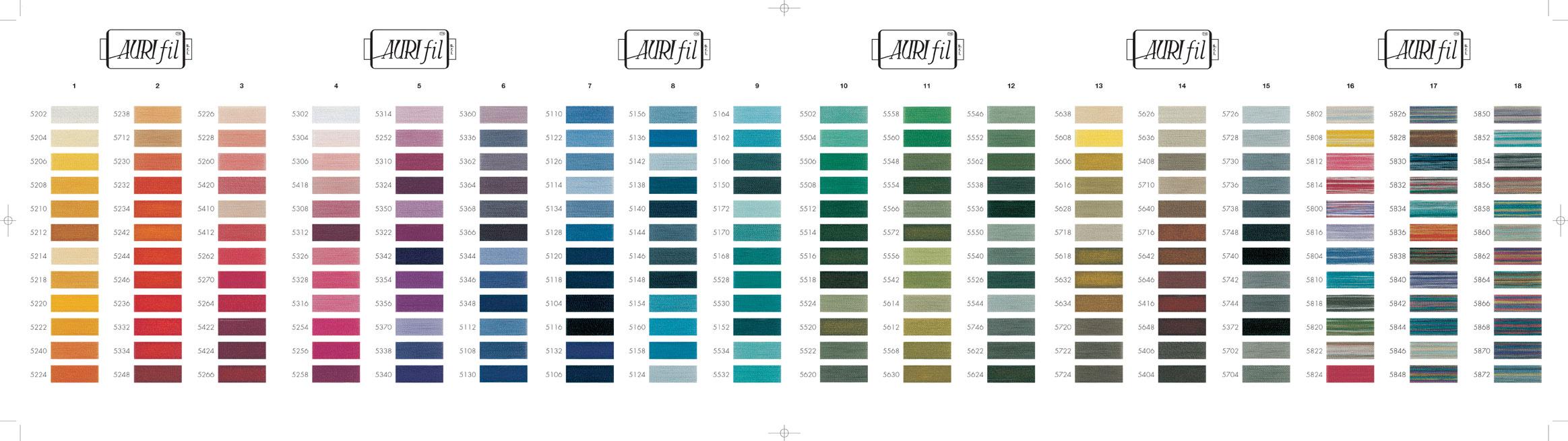 we - Aurifil Thread Color Chart
